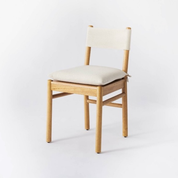 Emery Wood Dining Chair with Upholstered Seat